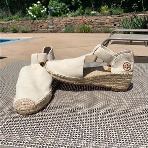Tory Burch Catalina 3 Espadrille Wedge -size 7.5